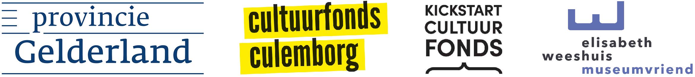 Mede mogelijk gemaakt door de subsidiënten Provincie Gelderland, Cultuurfonds Culemborg, Kickstart Cultuurvonds en de Vrienden